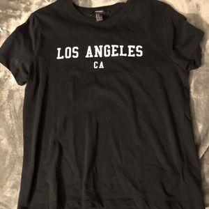 black LA tee